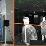 Wskazanie temperatury ciała z kamery termowizyjnej Hikvision.